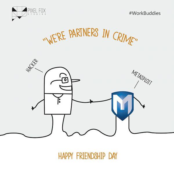 Friendship Day: Work buddies software posters - Hacker