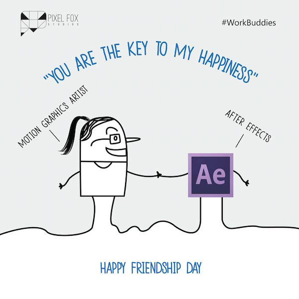 Friendship Day: Work buddies software posters - Motion Graphics Artist
