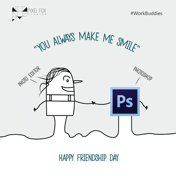 Friendship Day: Work buddies software posters - Photo Editor
