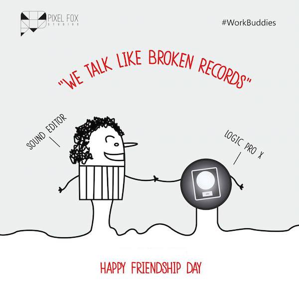 Friendship Day: Work buddies software posters - Sound Editor