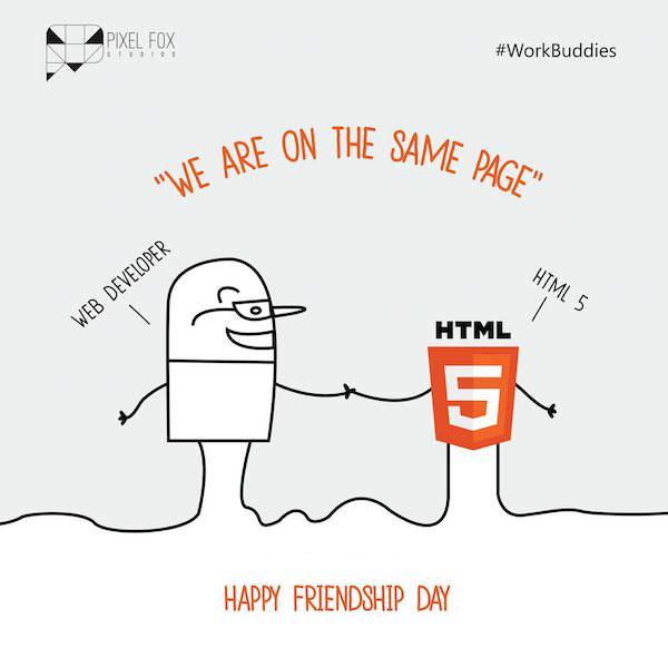 Friendship Day: Work buddies software posters - Web Developer