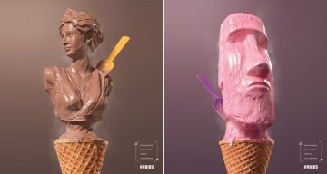 Check Out The Art Direction In These Delicious Ads For Handmade Ice Cream