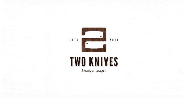 Creative logo designs that use negative space - Two Knives