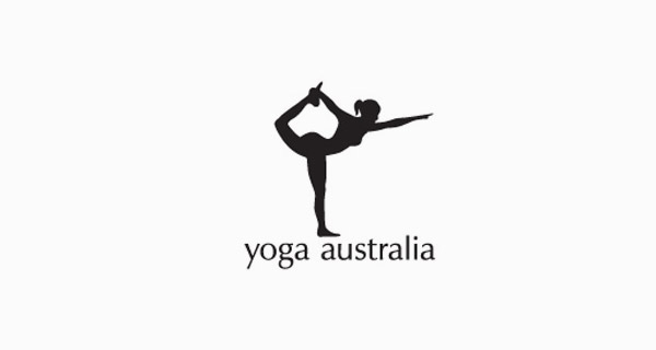 Creative logo designs that use negative space - Yoga Australia