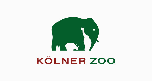 Creative logo designs that use negative space - Kolner Zoo