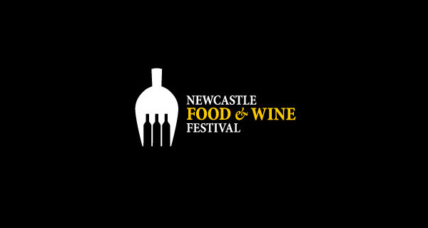 Creative logo designs that use negative space - Newcastle Food & Wine Festival