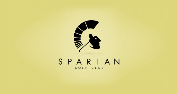 Creative logo designs that use negative space - Spartan Golf Club