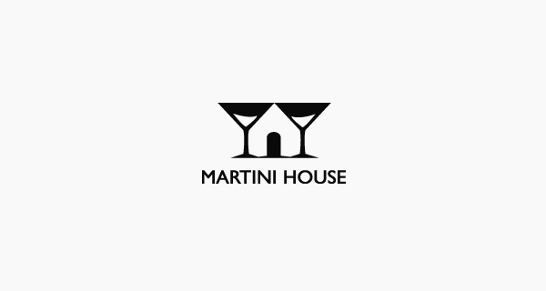 Creative logo designs that use negative space - Martini House