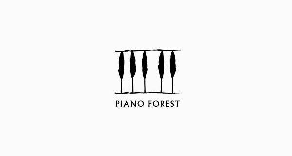 Creative logo designs that use negative space - Piano Forest