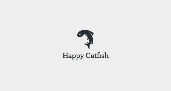 Creative logo designs that use negative space - Happy Catfish