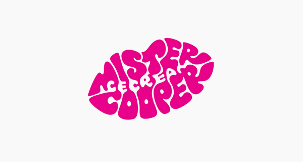 Creative logo designs that use negative space - Mister Cooper Ice Cream