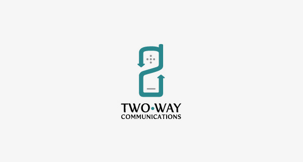 Creative logo design using numbers and digits - Two Way Communications