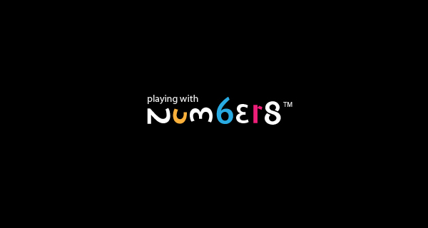 Creative logo design using numbers and digits - Playing with numbers