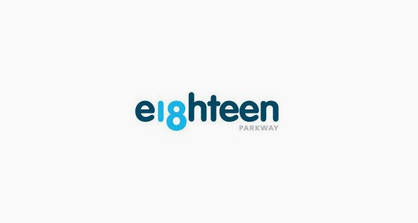 Creative logo design using numbers and digits - Eighteen Parkway