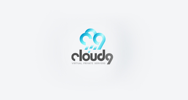 Creative logo design using numbers and digits - Cloud 9