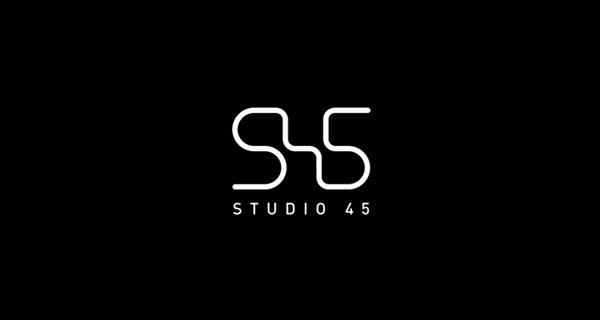 Creative logo design using numbers and digits - Studio 45