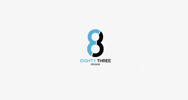 Creative logo design using numbers and digits - Eighty Three Studios