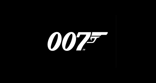 Creative logo design using numbers and digits - James Bond 007