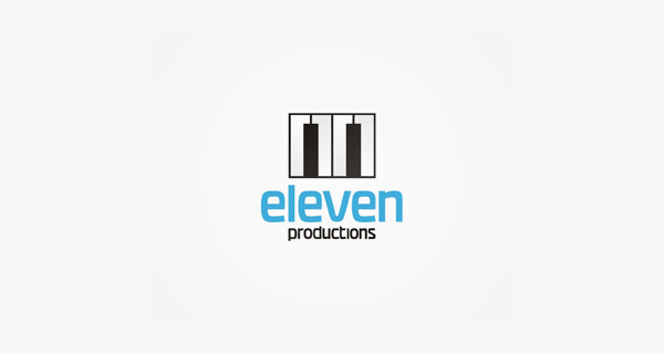 Creative logo design using numbers and digits - Eleven Productions