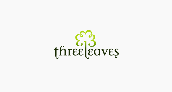Creative logo design using numbers and digits - Three Leaves