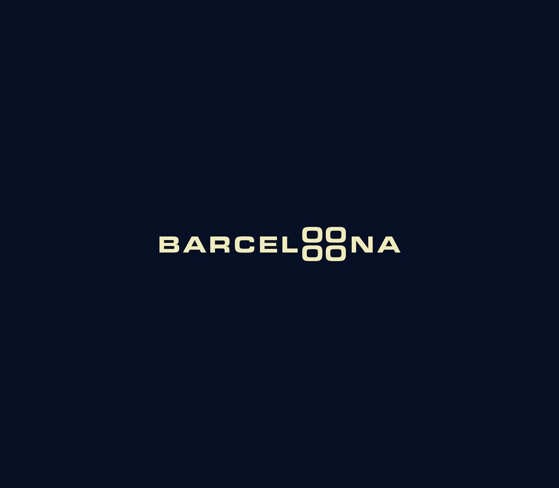 Clever, Minimal Typographic Logos Of Cities - Barcelona