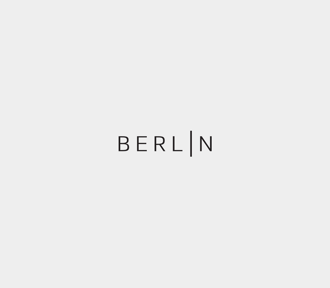 Clever, Minimal Typographic Logos Of Cities - Berlin