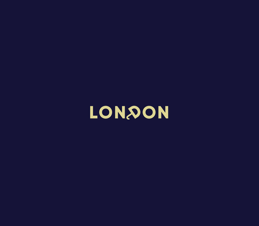 Clever, Minimal Typographic Logos Of Cities - London