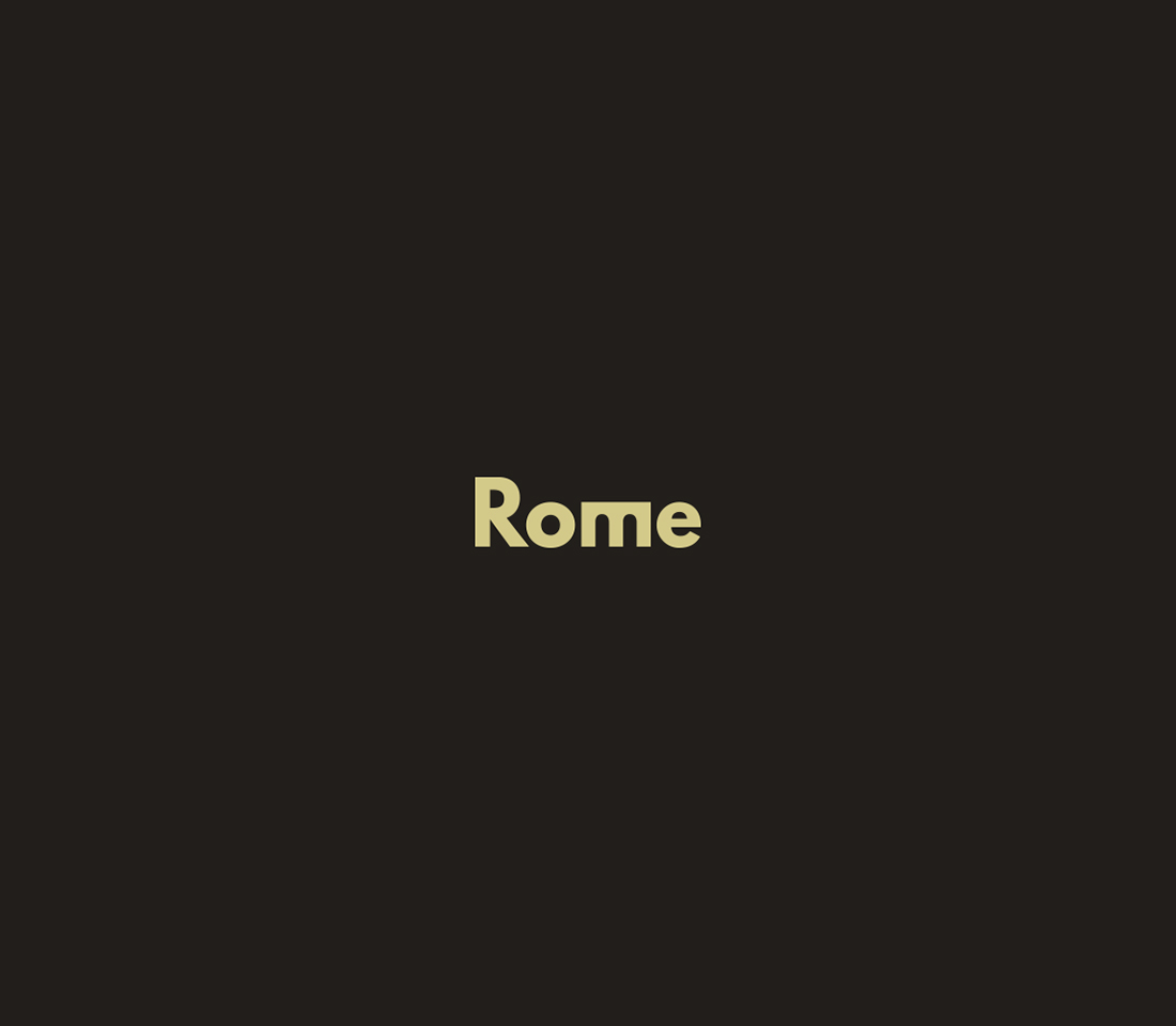 Clever, Minimal Typographic Logos Of Cities - Rome