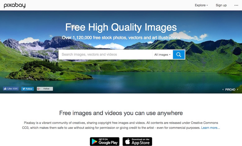free high quality images for websites