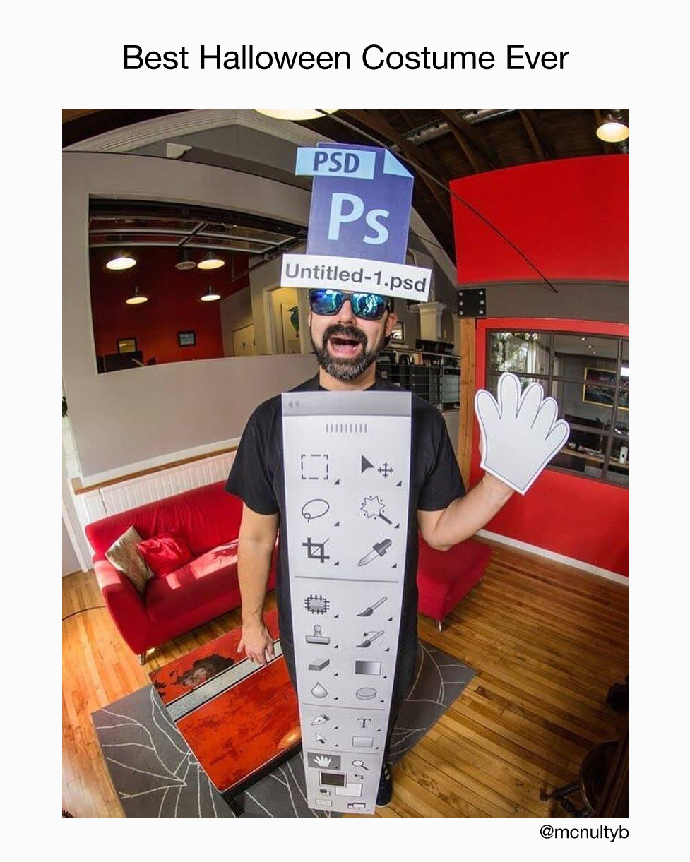 Best Halloween Costume Ever - Photoshop Tool Bar