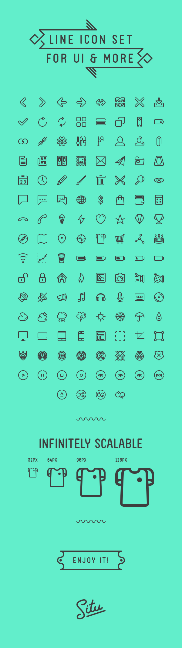 124 Free Minimal Line Icons For UI And More