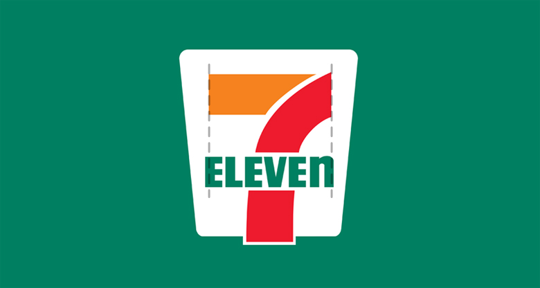 7-Eleven Logo: Alignment