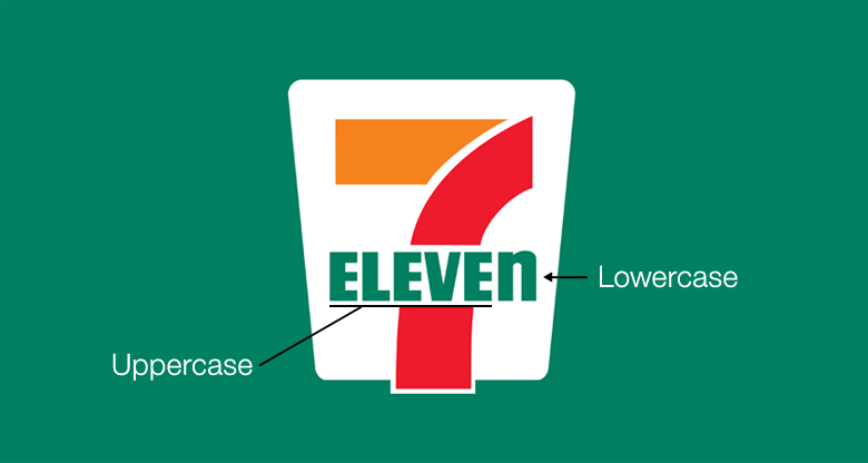 7-Eleven Logo: Uppercase and Lowercase