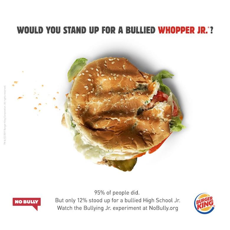 Would you stand up for a bullied Whopper Jr. ?