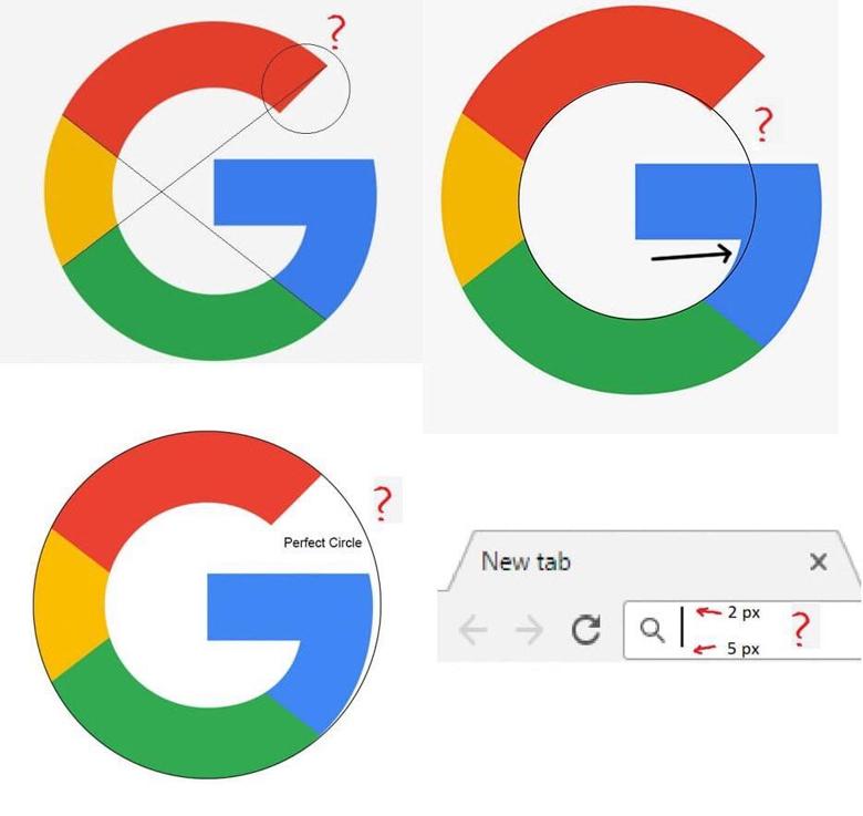 Google Logo Geometry