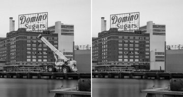"Guy Accepts ""Impossible"" Photoshop Challenge To Remove A Crane From A Building Photo, Here's The Result"