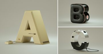 Designer Turns Popular Gadgets Into Letters Of The Alphabet, And They're Pure Awesome