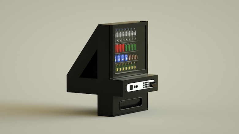 Alphabet Letters Designed As Electronic Gadgets - 4