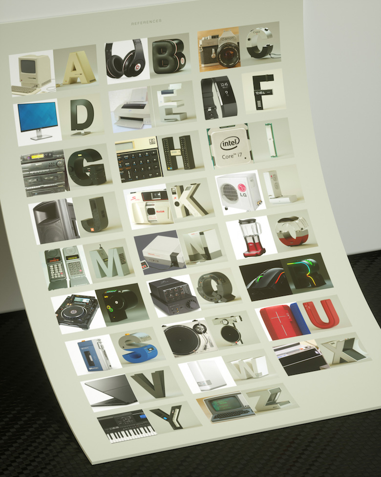 Alphabet Letters Designed As Electronic Gadgets - A-Z (Printed)