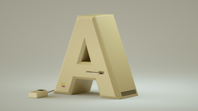 Alphabet Letters Designed As Electronic Gadgets - A