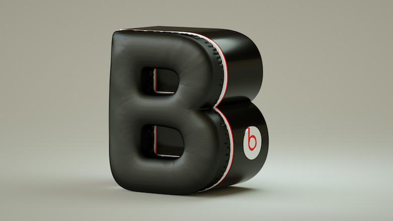 Alphabet Letters Designed As Electronic Gadgets - B