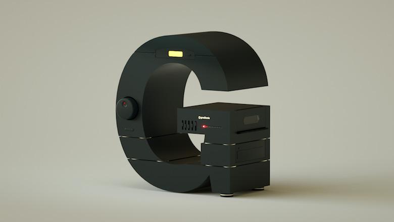 Alphabet Letters Designed As Electronic Gadgets - G