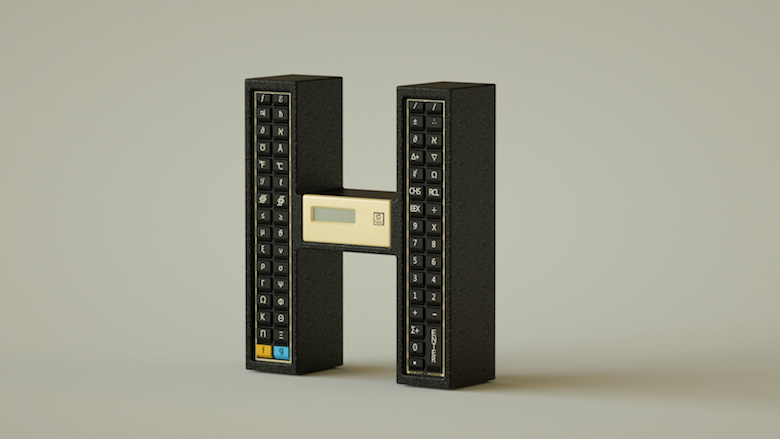 Alphabet Letters Designed As Electronic Gadgets - H