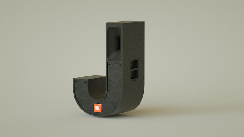 Alphabet Letters Designed As Electronic Gadgets - J