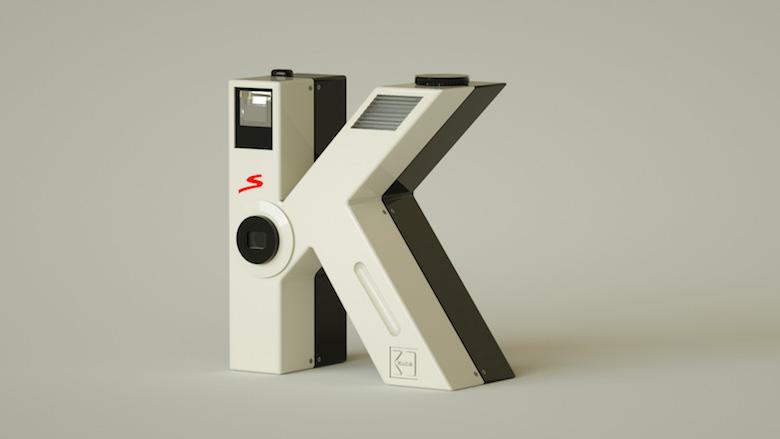 Alphabet Letters Designed As Electronic Gadgets - K