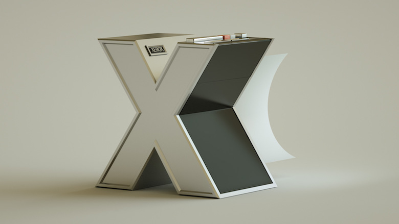 Alphabet Letters Designed As Electronic Gadgets - X