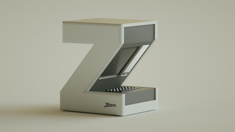 Alphabet Letters Designed As Electronic Gadgets - Z