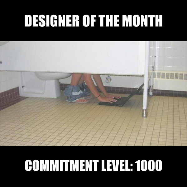 Designer of the month. Commitment Level 1000.