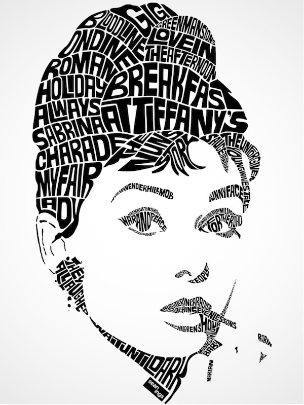 Amazing Typographic Portraits Of Celebrities Made Using