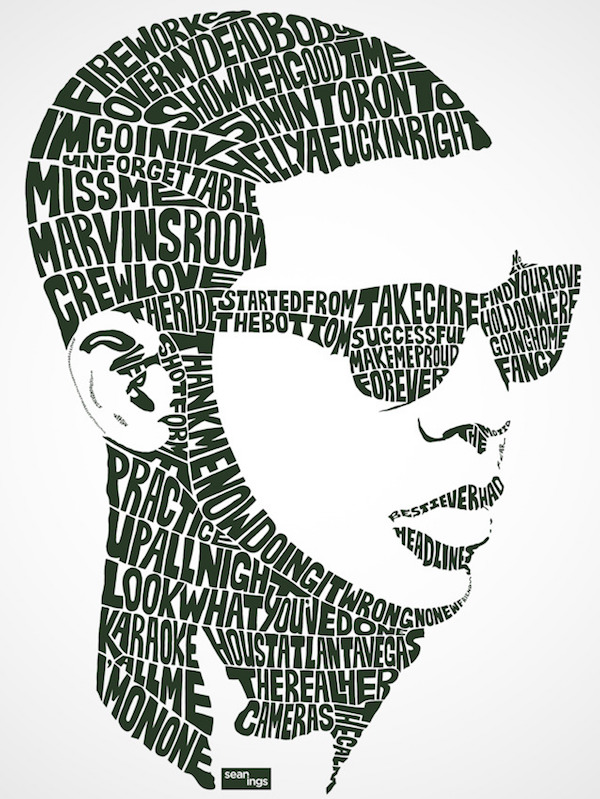 Typographic Portraits of Celebrities -